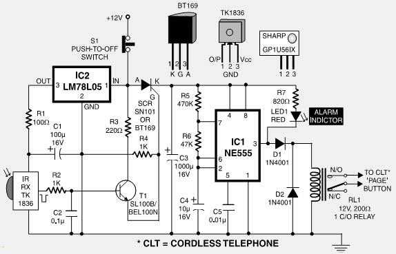 Pleasing Long Range Cordless Burglar Alarm Circuit And Its Working Wiring 101 Vieworaxxcnl