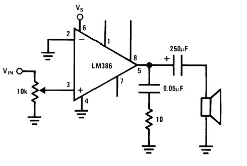 LM386 Amplifier Circuit Diagram