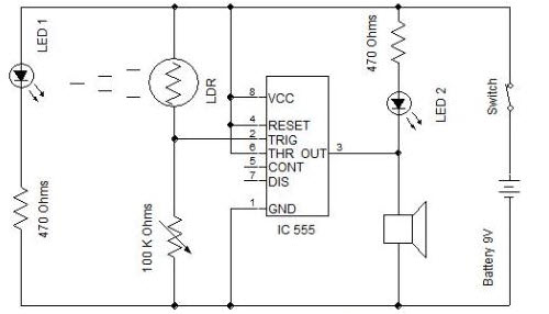 laser security system locks working along with circuit diagram rh edgefx in alarm system schematic diagram car alarm system circuit diagram
