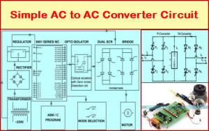 Simple AC to AC Converter Circuit Diagram Featured Image