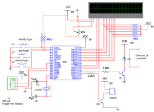 Finger Print Authentication Circuit Diagram