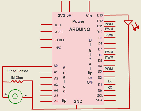 Arduino Based Piezo Knock Sensor Switch