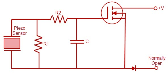 Piezo Switch Internal Circuit