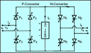 Simple AC to AC Converter Circuit Diagram (Cycloconverter)