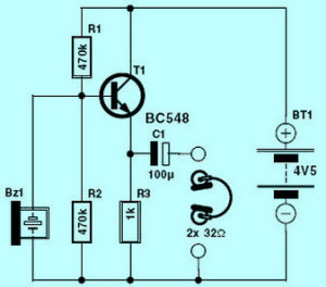 Electronic Stethoscope Circuit Diagram