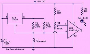 Air Flow Detector Circuit