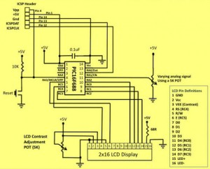 Circuit Diagram of A/D Converter in PIC Microcontroller