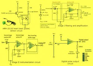 Heart Beat Sensor Circuit Diagram and its Operations