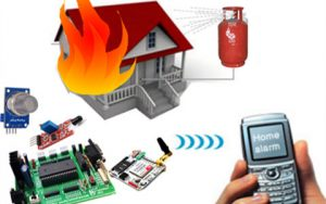Home and Industrial Safety Using Fire and Gas sensor System Using GSM