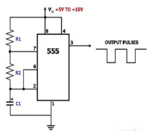 IC LM555 Chip Pulse Generator