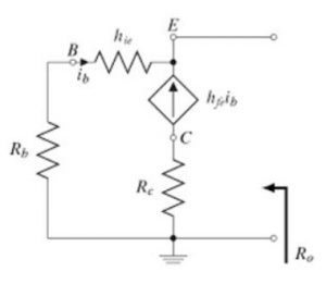 Common Collector Output Resistance AC Equivalent Circuit